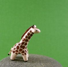 Little Giraffe - Hand Sculpted. $25.00, via Etsy.