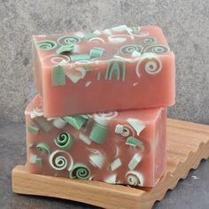 Sweet Strawberry Handmade Glycerin Soap Bar by AlaiynaBSoaps