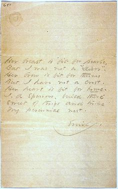 Emily dickinson envelope poem amherst2 inspiration for Divan 6 letters
