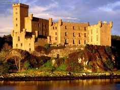 Dunvegan Castle, Isle of Skye, Scotland -- home of Clan MacLeod. One of my favorite places I have ever been. I love the Isle of Skye and Dunvegan is where we like to stay. Such a beautiful place and the people are wonderful! Scottish Music, Scottish Castles, Beautiful Castles, Beautiful Places, Amazing Places, Beautiful Gardens, Beautiful Pictures, The Places Youll Go, Places To See