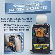 Backseat Organizer by Freddie and Sebbie - http://freddieandsebbie.com/products/