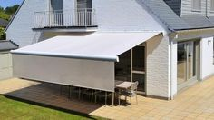 Brustor – awning with blackout and unrolling lambrequin – terrace - Modern Stores, Deck, Backyard, Outdoor Decor, Modern, Home Decor, Image, Garden, Houses