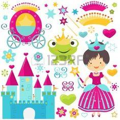little princess establecido para las ni�as photo