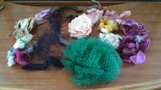 Large Silk Flower Feather and Veil Lot for by MICSJEWELSGALORE