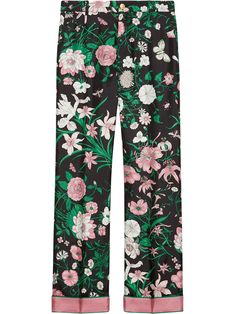 GUCCI - pants - floral trousers