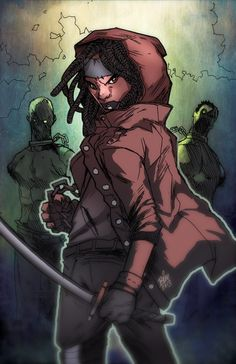 Michonne - The Walking Dead - Federico Blee