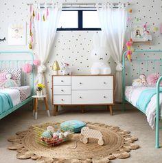 Cute shared girls bedroom |kinderkamer | barnrum | kids room