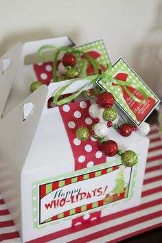 Kids Grinch Inspired Christmas party Favor Ideas