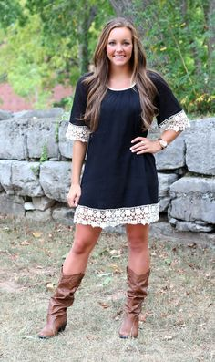 The Pink Lily Boutique - Black Lace Dress, $35.00 (http://www.thepinklilyboutique.com/black-lace-dress/)