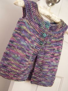 Plain Vest by Anna & Heidi Pickles ¬ in malabrigo Worsted in Kaleidos