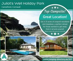 Campsites in , Campsites and Caravan sites in the UK ( England, Wales and Scotland ) & Ireland, Book direct with the site owners. Outdoor Swimming Pool, Swimming Pools, Travel Uk, Holiday Park, Cornwall England, Holiday Accommodation, Campsite, Holiday Travel, Amazing Places