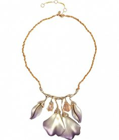 Lavender Ophelia Gold-Toned Jeweled Garden Necklace by ALEXIS BITTAR
