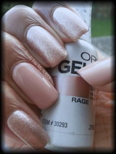 Orly Gel FX Rage with Glam and Glits Ink Barely There #61