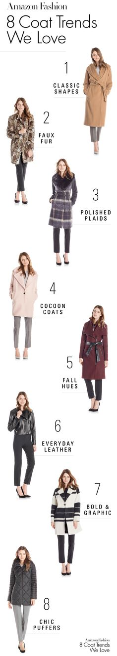 Keep warm this winter with these 8 coat trends.