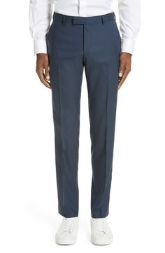 Z Zegna Trim Fit Solid Wool Travel Suit | Nordstrom African Dashiki Dress, Suit Jacket, Jacket Style, Fitness Inspiration, Perfect Fit, Trousers, Nordstrom, Mens Fashion, Suits