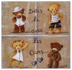 Dites le Avec les Ours Affiches par Joëlle Wolff sur AllPosters.fr