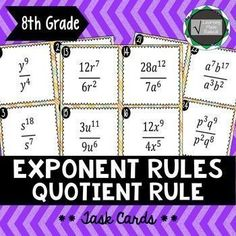 Mystery Picture Graph Worksheets Free Find The Missing Exponent Worksheet All Five Exponent Rules  Traceable Alphabet Worksheets Word with Free Telling The Time Worksheets Excel Exponent Rule  Quotient Rule Task Cards Eea Integer Worksheets With Answers