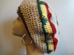 Pot Leaf Rasta Hat  Crocheted Bob Marley by TenderLovingCrafts4U, $25.00