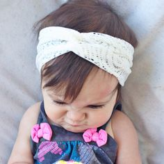 Lace ish baby turban headband by turbansfortots on Etsy, $9.00
