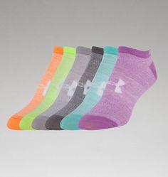 Women's UA Big Logo No-Show Socks 6-Pack