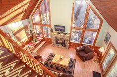 The living room of the Ridge Haven cabin in Gatlinburg TN.