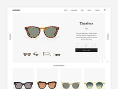 Sunglasses shop. Product Page
