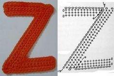 How to make Crochet ِAlphabet characters-free pattern Alphabet Au Crochet, Crochet Letters, Crochet Accessories, Handmade Crafts, Crochet Stitches, Lana, Free Crochet, Charity, Free Pattern