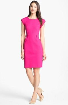 Bright sheath dress - great for work!