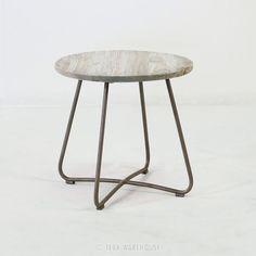 Teak Warehouse | East Side Table Pebble (Silver)