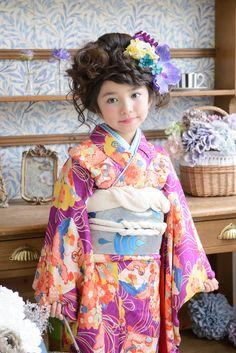 7-100 時雨 Cute Kids Photography, Rite Of Passage, Kimono Fashion, Traditional Outfits, Sewing Ideas, Kids Outfits, Chinese, Japanese, Dress
