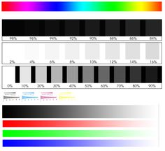 One of the best color charts for calibrating your monitors.  Provides contrast and color info in a very intuitive way (at least for me!)