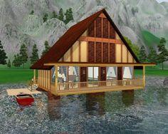 Mountain lake cabin by Natali_Nik - Sims 3 Downloads CC Caboodle