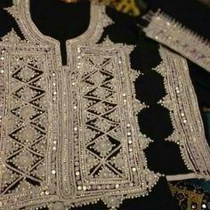 Short Kurti Designs, Afghani Clothes, Mirror Work Blouse Design, Balochi Dress, Embroidery Fashion, Hand Embroidery, Simple Pakistani Dresses, Dress Design Sketches, Dresses Kids Girl