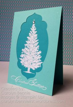 Christmas card making class - see all the details at carolynbennieink.wordpress.com