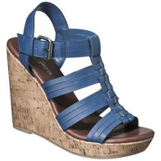 Womens Mossimo Supply Co. Waylon Harachi Cork Wedge Sandal - Blue