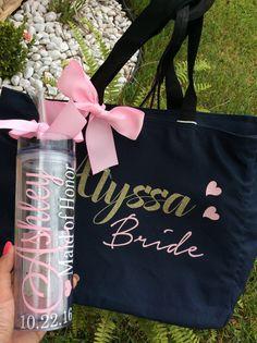 Tote bags bridesmaid Custom tote bags by madewithlovebyV on Etsy