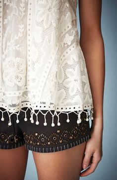 Boho layers in black + white