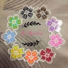Flowers perler beads