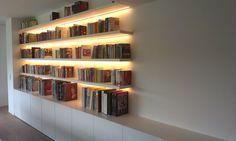 Boekenkast met ledverlichting