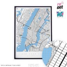 Mapa Nowego Jorku w tubie. Kolekcja limitowana Reset+Maptu
