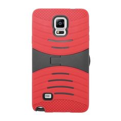 Insten Wave Symbiosis Dual Layer Hybrid Rubber Silicone/ PC Phone Case Cover With Stand For Samsung Galaxy Note 4 #1952726