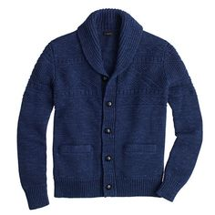 This sweater was modeled after old fishermen cardigans (think Hemingway and <i>The Old Man and the Sea</i>). Instead of using wool to keep us warm while at sea, we use cotton to keep us warm in frigid offices.  <ul><li>Cotton.</li><li>Patch pockets.</li><li>Dry clean.</li><li>Import.</li></ul>