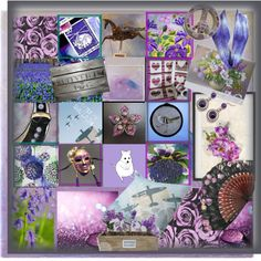 An art collage from April 2017 by woeste featuring art, Spring, MemberSpotlight, purplepassion and etsyevolution