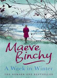 A Week in Winter, by Maeve Binchy. This book is about a woman who moves to small town in Ireland to convert an old run-down mansion into an inn, even though the locals think she's crazy. This was one of our book discussion books, and Julia thought it was great. We have it at both libraries!