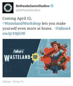 Coming out next week!  fallout 4 wasteland workshop