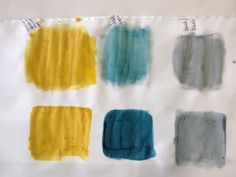 Selected colors for repeat print , bottle green, blAck (grey) and golden yellow mixed with choc brown Procion reactive dyes