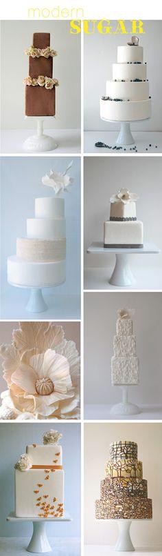 modern wedding cake options