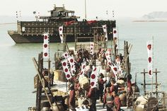 韓国映画『鳴梁-渦巻く海(Myeongryang)』の一場面。CJエンターテインメント(CJ Entertainment)提供(2014年8月16日提供)。(c)AFP/CJ Entertainment ▼18Aug2014AFP|日本水軍との戦い描く映画、韓国で2大記録を樹立 http://www.afpbb.com/articles/-/3023307