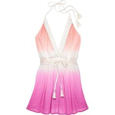 Victoria's Secret Crochet-trim Cover-up Dress (3,190 DOP) ❤ liked on Polyvore featuring pink necktie, neck ties, neck-tie and victoria's secret