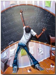 """Mathematics"". Frank Morrison #pissarra"